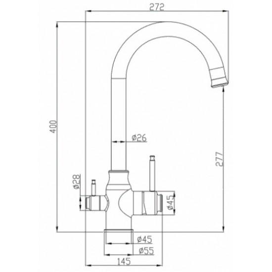 Steel Hammer SH 763 INOX GRAFIT PVD