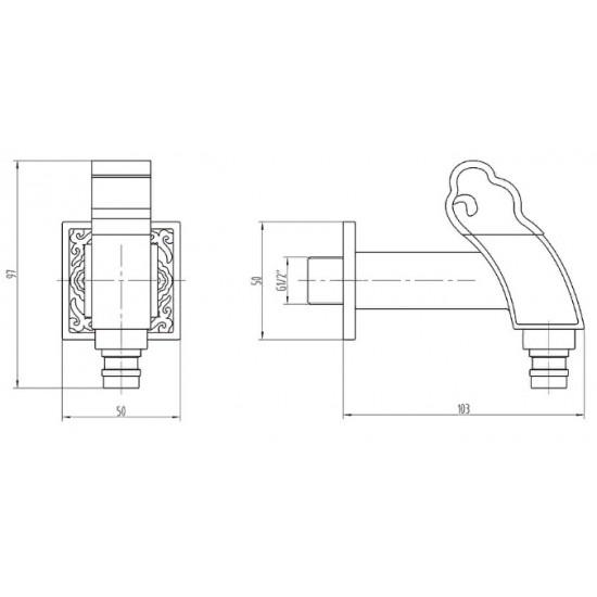 Zorg A 31111 BR кран для бани