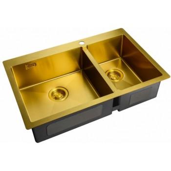 Мойка Zorg ZL R-780-2-510 L Bronze