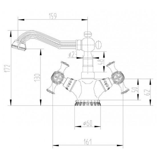 Zorg A 7009U-SL смеситель на умывальник