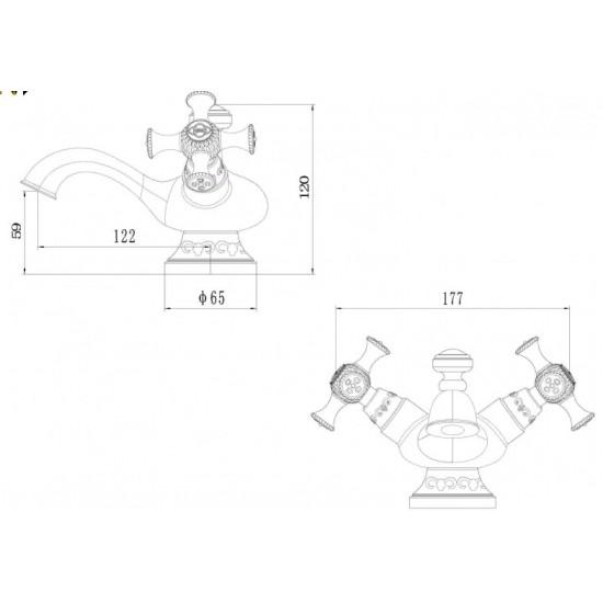 Zorg A 6011U-BR смеситель для умывальника