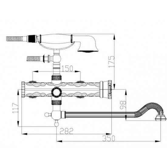 Zorg A 101W-DN-BR душевая система