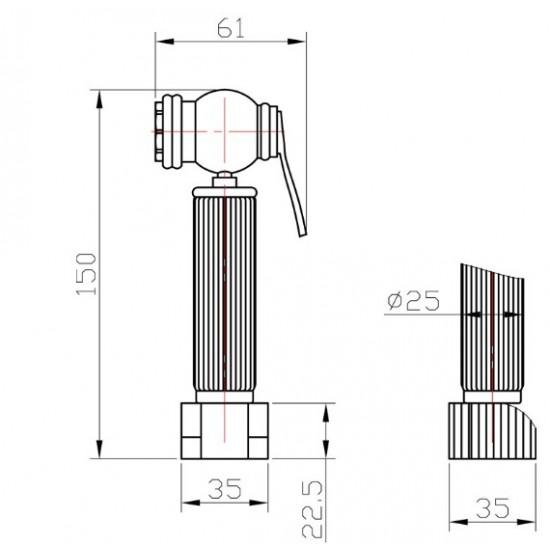 Гигиенический душ Zorg AZR 3 LB Br