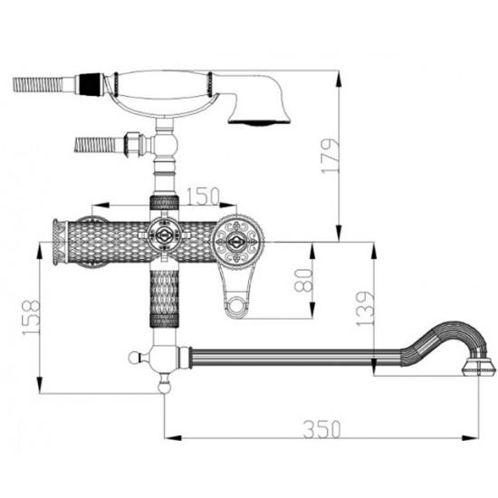 Zorg A 401WDN-BR душевая система