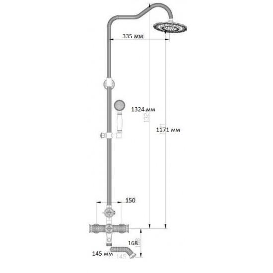 Zorg A 403DS-BR душевая стойка