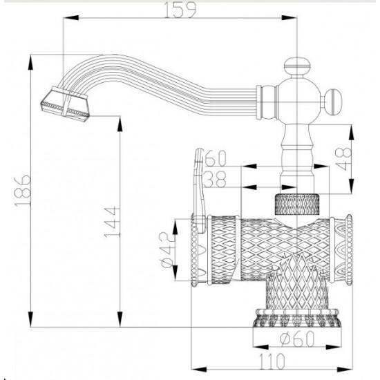 Zorg A 413U-BR смеситель для умывальника