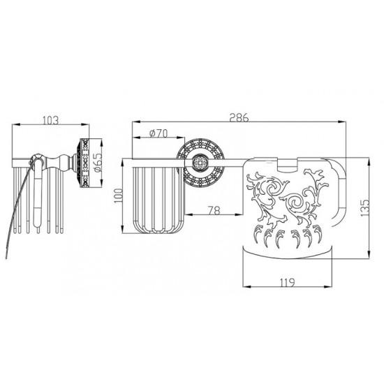 Zorg Antic AZR-20 SL Держатель освежителя/воздуха и туалетной/бумаги