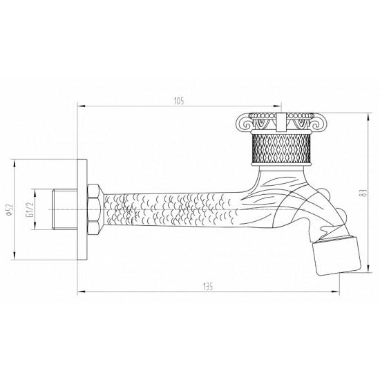 Zorg AZR 31818 BR кран для бани