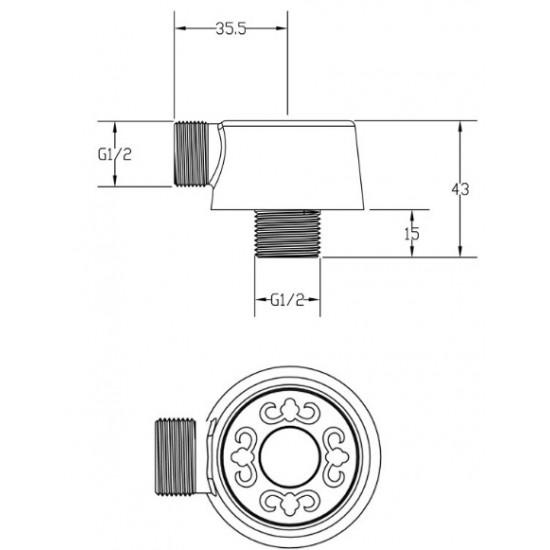 Zorg AZR 4 Br переходник для подключения душевого шланга AZR 4 BR