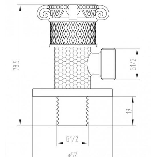 Zorg AZR 6 Br кран с подключением душевого шланга