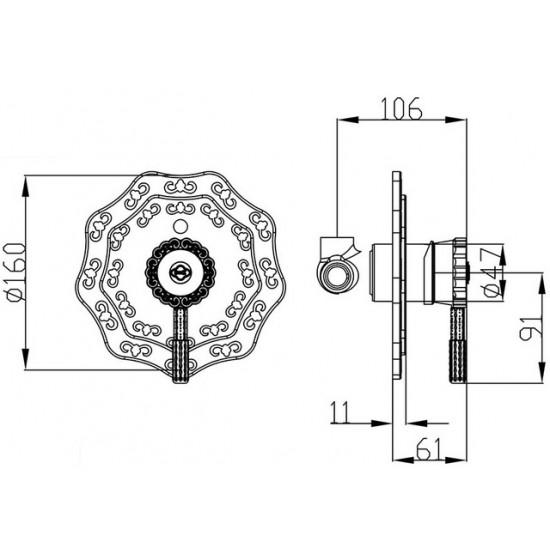 Zorg A 105 DK BR смеситель встраиваемый для биде