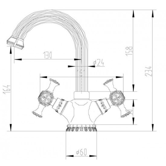 Zorg A 6008U-BR смеситель для умывальника