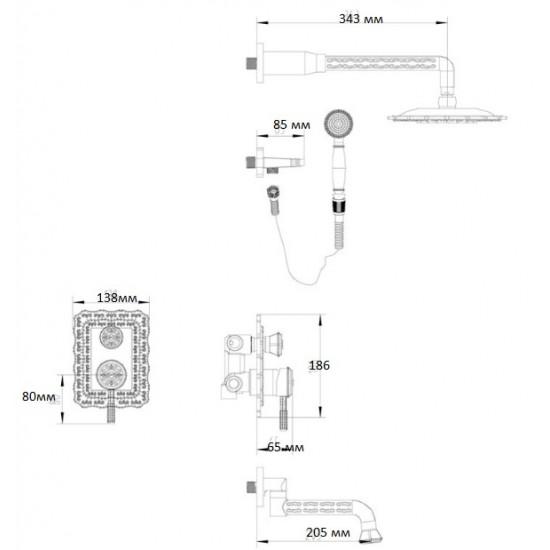 Zorg A 104DS-BR душевая стойка