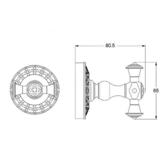 Zorg Antic AZR-02 BR Крючок двойной