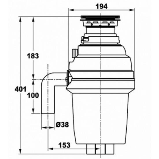 Zorg ZR-75D измельчитель бытовых отходов